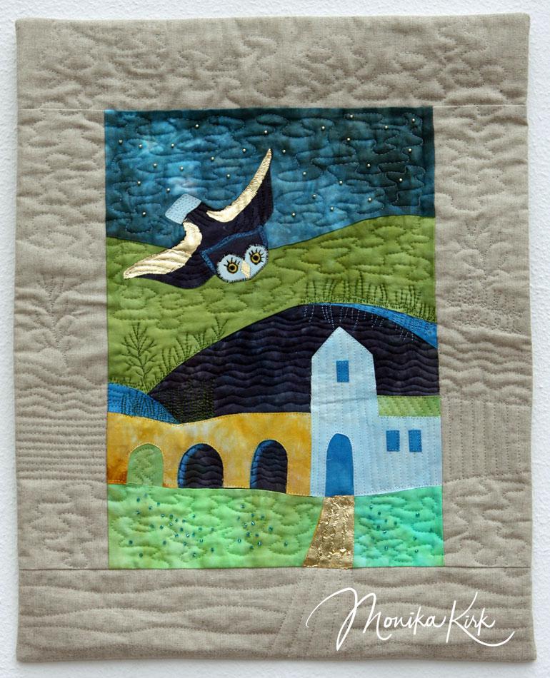 Eulenflug (2014)42 x 53 cmInspiriert durch Rosina Wachtmeister