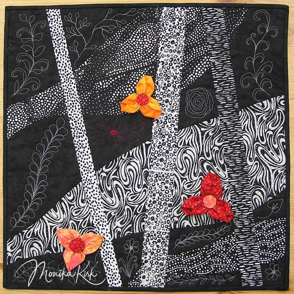 Schwarz, Weiß und ... (2008)Frühlingserwachen60 x 60 cm