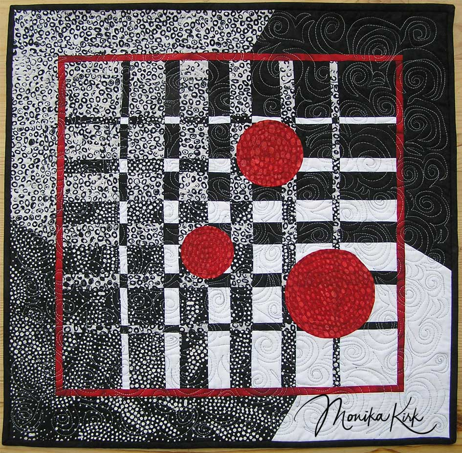 Schwarz, Weiß und ... (2008)Konvergenz (nach Ricky Tims)60 x 60 cm